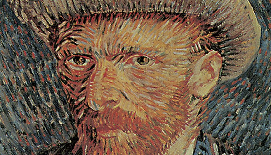 A famous self-portrait of Vincent van Gogh, made by Van Gogh himself. This location is a part of the Holland Highlights, Amsterdam and Art and Architecture tours.