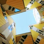 The tilted cube houses of Rotterdam. The crazy shapes make you wonder how one can live comfortably in such a house.