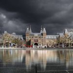 The national museum (Rijksmuseum) in Amsterdam. This location is a part of the Holland Highlights, Art and Architecture, History of Holland and Amsterdam tours.