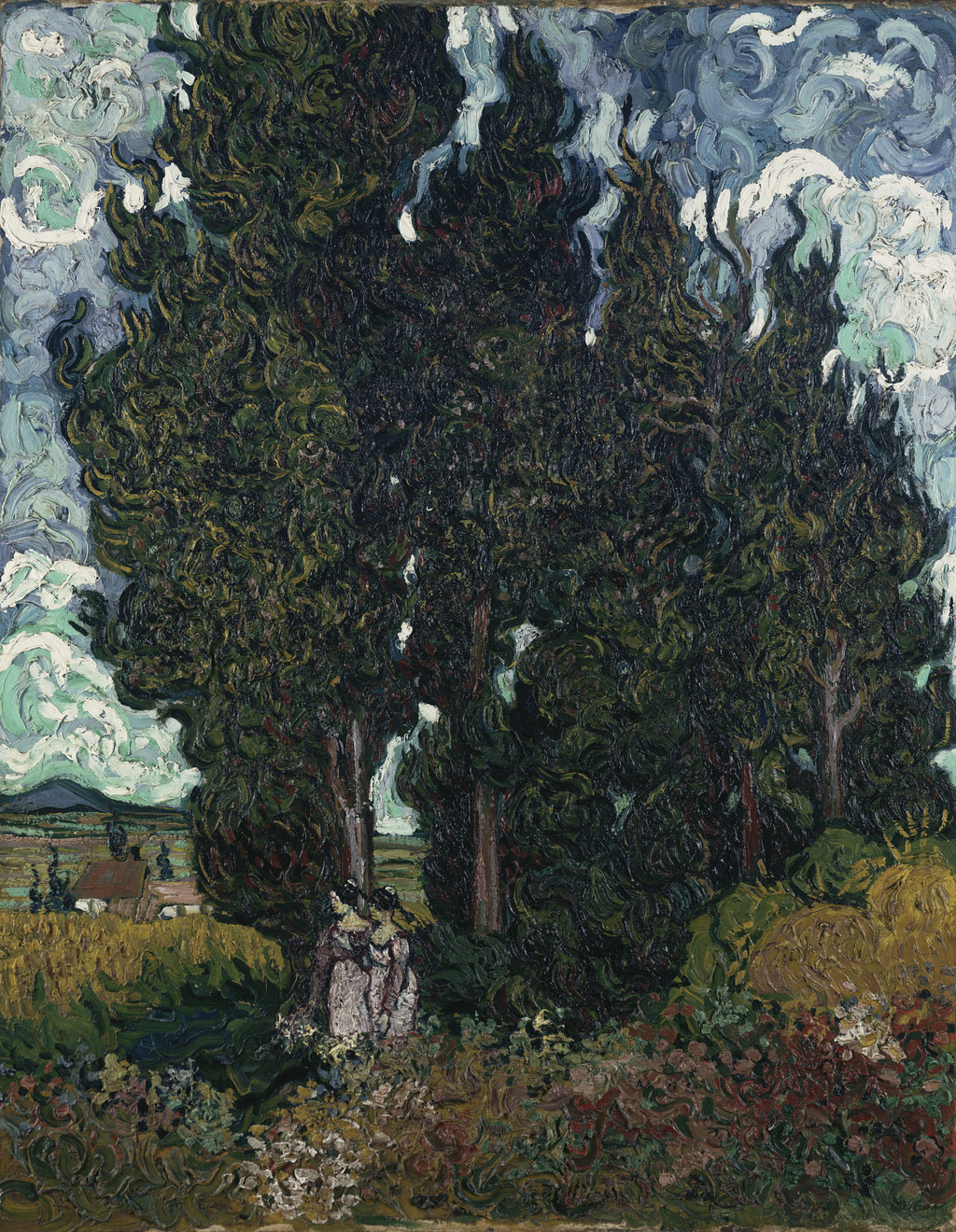 The Cypresses, a work of Van Gogh. Part of the collection of the Kröller-Müller Museum.