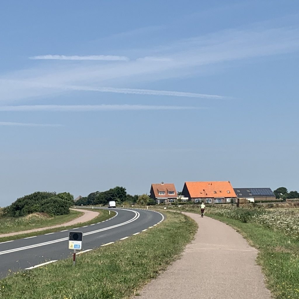 An impression of the on-island infrastructure of Texel. Out of all of the Frisian Islands, Texel has the best infrastructure.