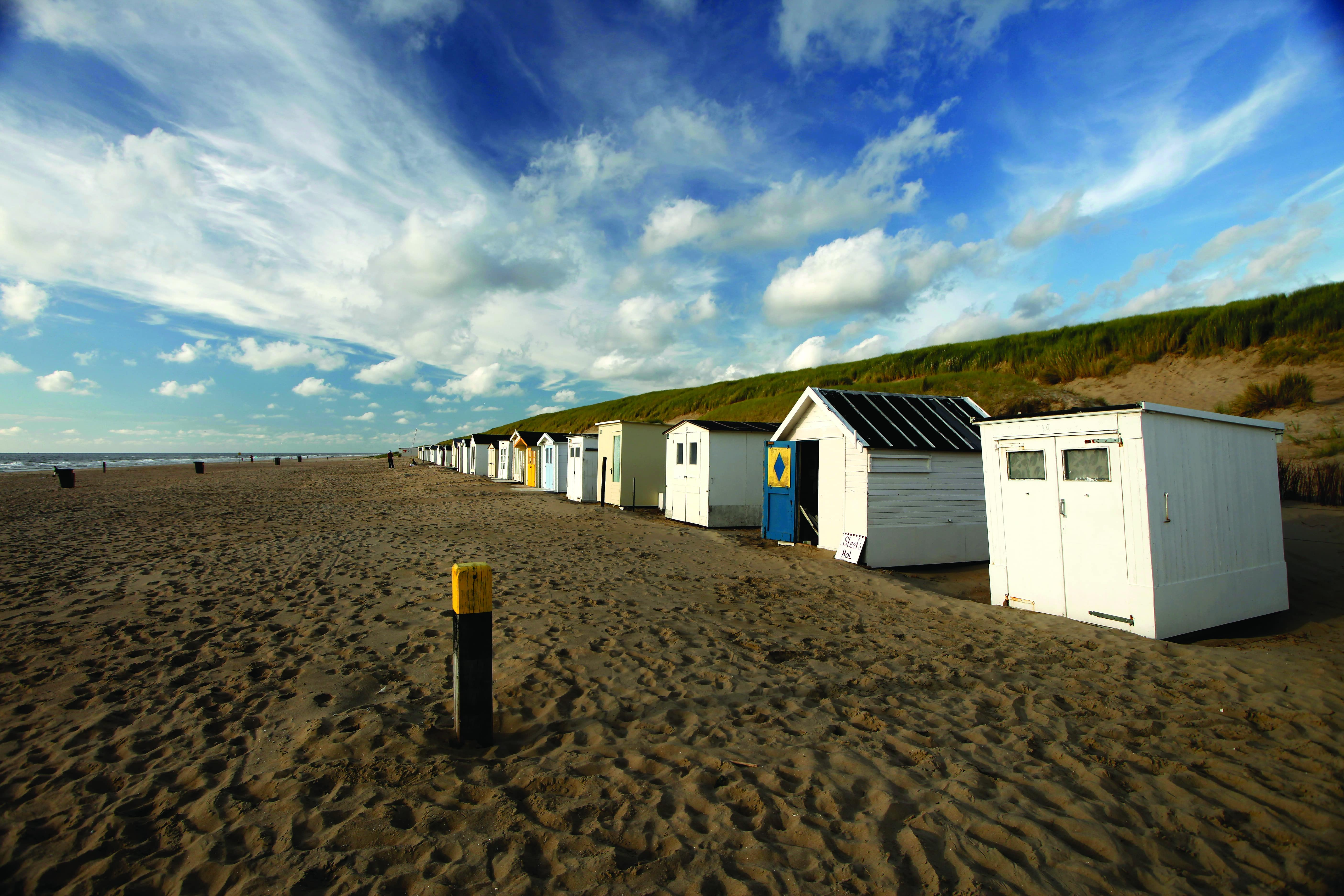 The beach of Texel, one of the Frisian Islands