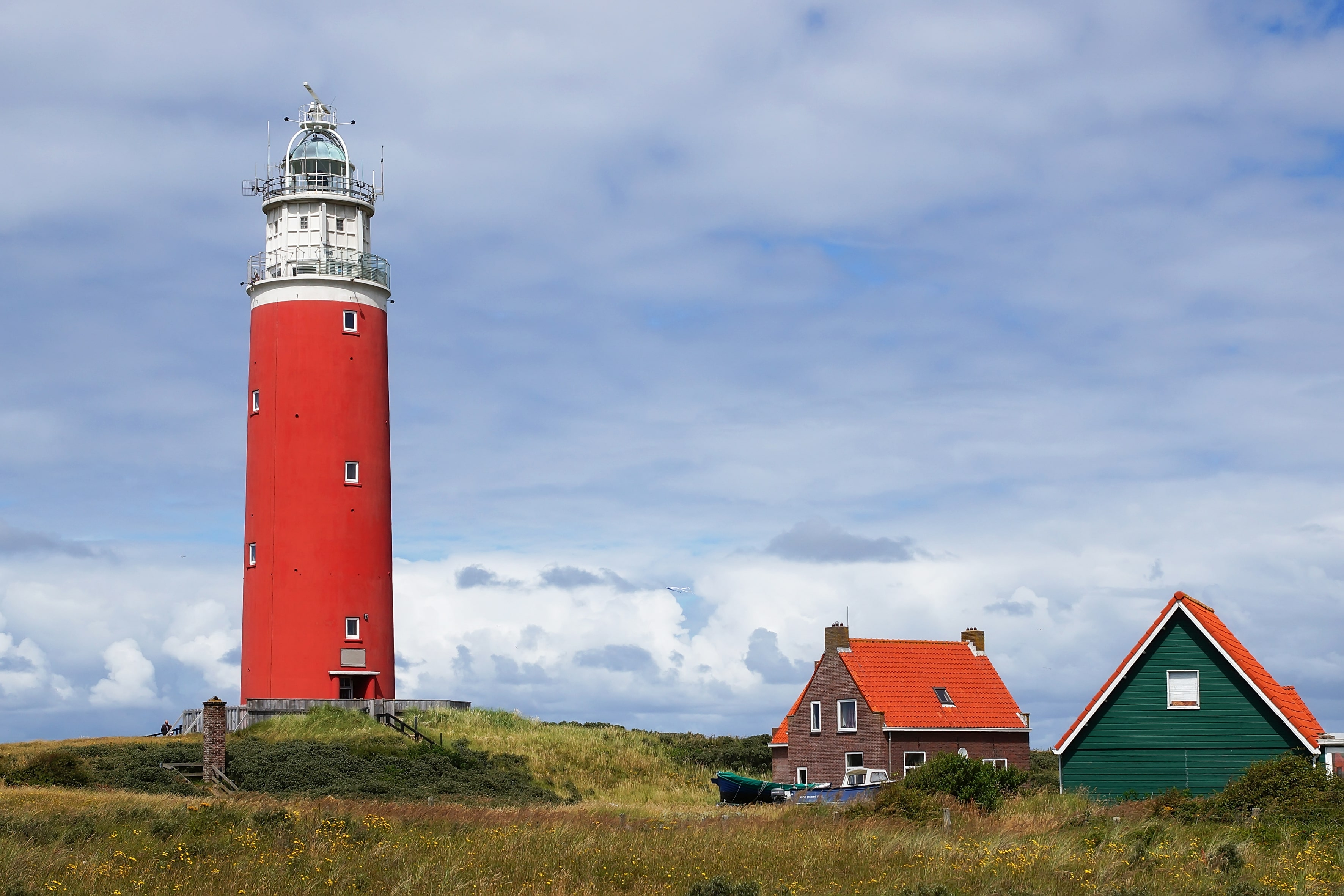 One of the lighthouses at Texel, Frisian Islands